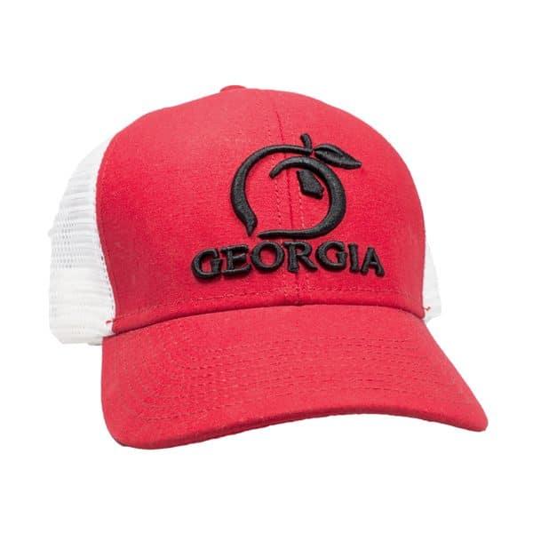 e6362d2e7efa7 Red   White Peach State Trucker Hat